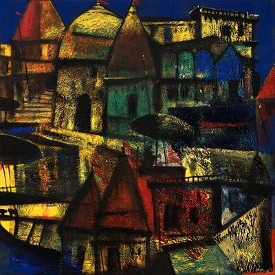 Paresh Maity, 'City of Light', 2015