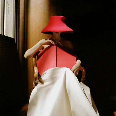 "Rodney Smith, '""Bernadette in Red Hat with Book, New York Public Library""', 2003"