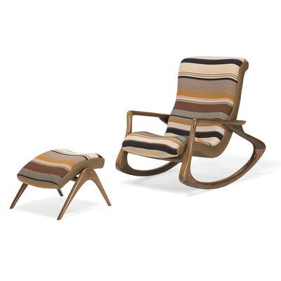 Vladimir Kagan, 'Contour rocking chair and ottoman, USA'