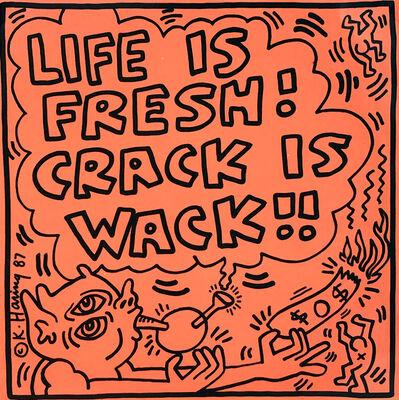 Keith Haring, 'Keith Haring Crack Is Wack Record Art 1987', 1987