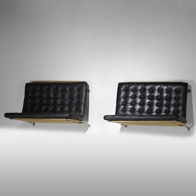 Poul Kjærholm, 'wall-mounted settees model PK 26, pair', 1956