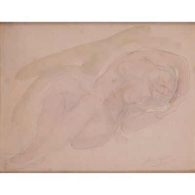 Auguste Rodin, 'Reclining nude'