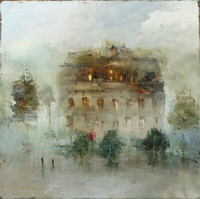 France Jodoin, 'The fog that rubs its back upon the window panes', 2019