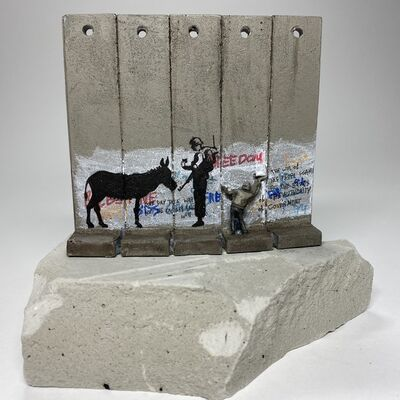 Banksy, 'SUMMER SALE / Banksy Walled Off Hotel Wall Sculpture - Donkey Documents - 2019 ', 2019-2020
