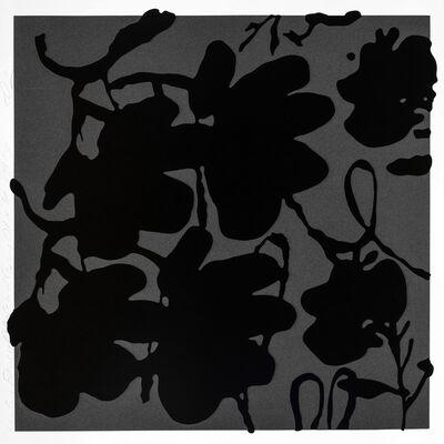 Donald Sultan, 'LANTERN FLOWERS, BLACK AND GRAY', 2017