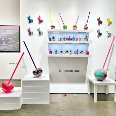 Fabrik Projects Gallery at LA Art Show 2020, installation view