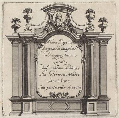 Giuseppe Antonio Landi, 'Alcune Prospettive', before 1753