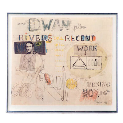 Larry Rivers, 'At The Dwan Gallery (Signed)', 1965