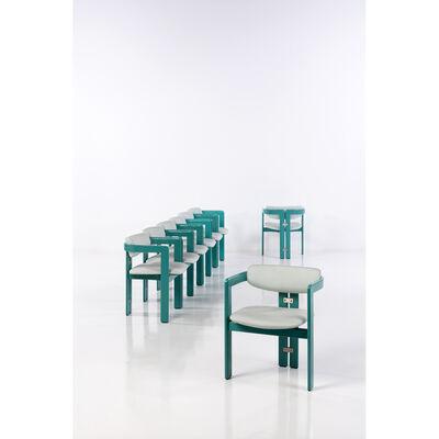 Augusto Savini, 'Set of eight chairs', 1965