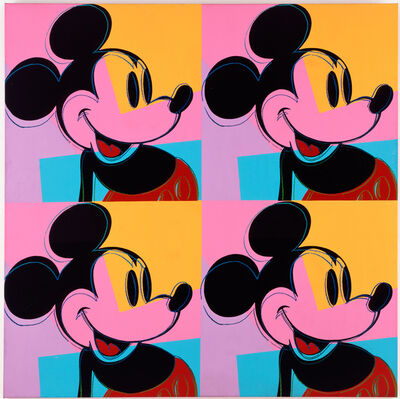 Andy Warhol, 'Quadrant Mickey Mouse/Myths', 1981