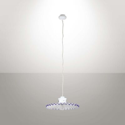 Ludovico Diaz de Santillana, 'A Pinocchio pendant lamp with a metal structure and a blown glass diffuser', 1970 ca.