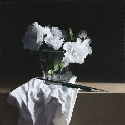 Josep Santilari, 'The artist: vase with flowers II', 2018