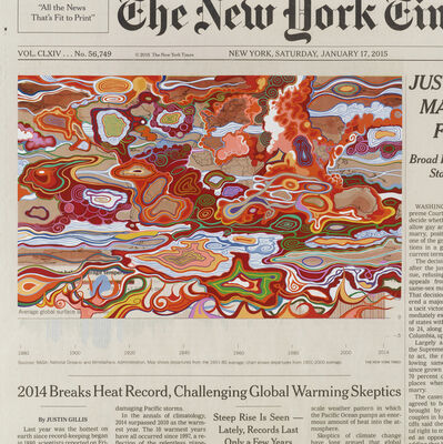 Fred Tomaselli, 'Saturday, January 17, 2015', 2016