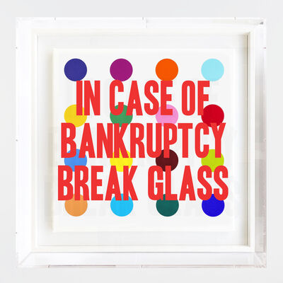 Thirsty Bstrd, 'In case of bankruptcy - Hirst', 2019