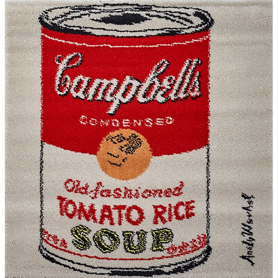 """After Andy Warhol, 'Three wool wall hangings, """"Campbell's Tomato Rice,"""" """"Campbell's Tomato Soup,"""" and """"The Hans Christian Andersen Suite,"""" Denmark', 1990s"""