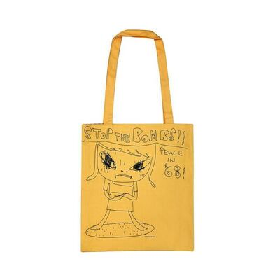"Yoshitomo Nara, '""STOP THE BOMBS !! PEACE IN '68"" Tote Bag', 2020"