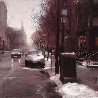 Ben Aronson, 'Newbury Street in Snow', 2018