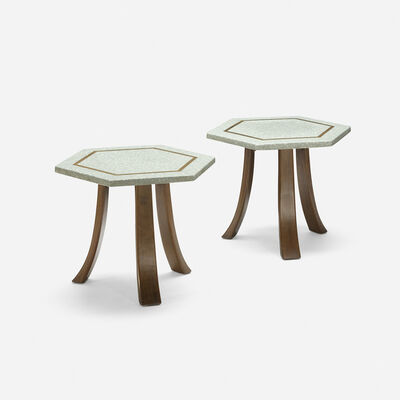 Harvey Probber, 'occasional tables, pair', c. 1960
