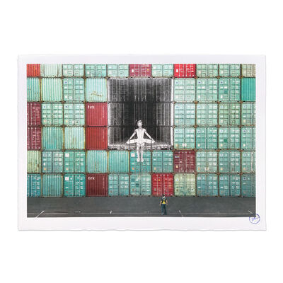 JR, 'In the Container Wall, Le Havre, France, 2014', 2020