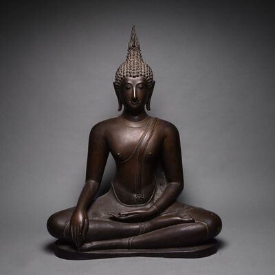Thailand, 'Rattanakosin Bronze Sculpture of the Buddha Seated in the Dhyanasana Position', 17th Century AD to 19th Century AD