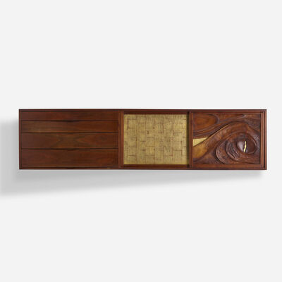 Phillip Lloyd Powell, 'wall-mounted cabinet', c. 1970