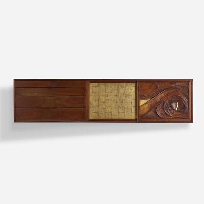 Phillip Lloyd Powell, 'wall-mounted cabinet', c. 1970
