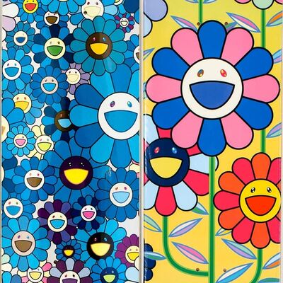 Takashi Murakami, 'Takashi Murakami Flowers Skateboard Decks (Set of 2)', 2017/2019