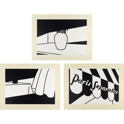Patrick Caulfield, 'Tulips; Curtain And Bottle; Paris Separates (C. 32; 34; 36)', 1973