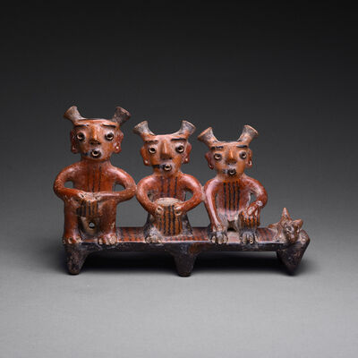 Unknown Pre-Columbian, 'Zacatecas Terracotta Figural Group', 300 BCE-300