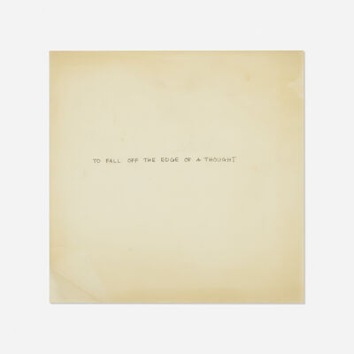 James Lee Byars, 'text on vellum', c. 1975