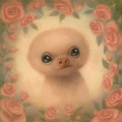 Marion Peck, 'Baby Sloth and Roses', 2019
