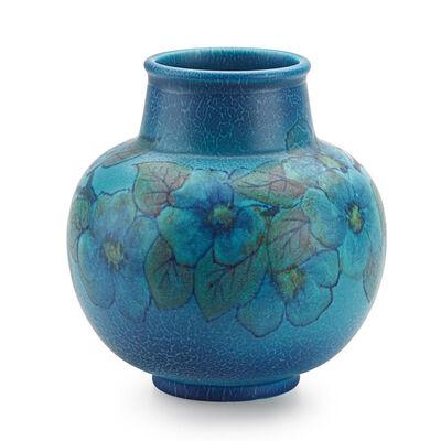 Louise Abel, 'Bulbous Double Vellum vase with cherry blossoms (uncrazed), Cincinnati, OH', 1927