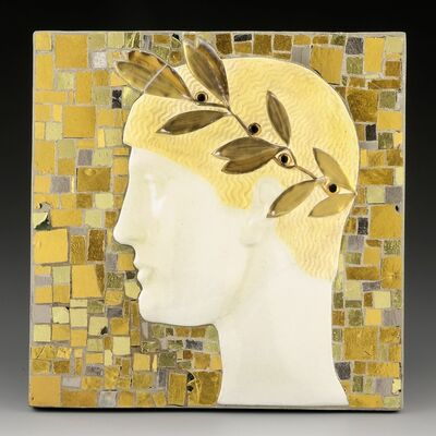 Leopold Forstner, 'Young Man´s Head with Laurel Wreath', ca. 1912