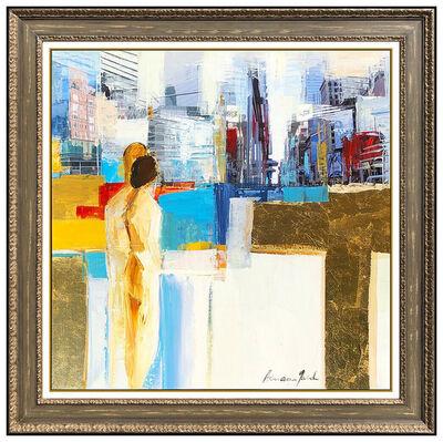 Adriana Naveh, 'Adriana Naveh Original Acrylic Painting On Canvas Landscape Portrait Artwork', 21st Century
