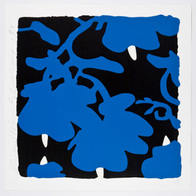 Donald Sultan, 'Donald Sultan, Blue and Black, Feb 20, 2017', 2017