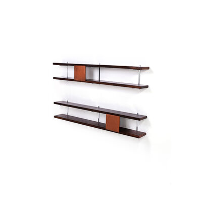 "Sergio Rodrigues, 'Model ""Estante George Nelson"" - Pair of Wall Shelves', circa 1965"
