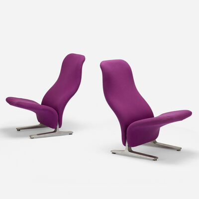 Pierre Paulin, 'Concorde chairs, pair', c. 1960