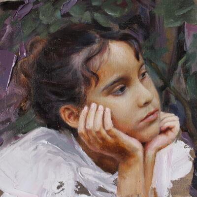 Lali Garcia Almeyda, 'Portrait study with flowers 2', 2021
