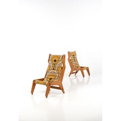 Travail Italien, 'Pair of armchairs', circa 1950