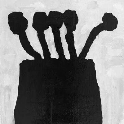 Donald Baechler, 'Black Flowers 2.2020', 2020