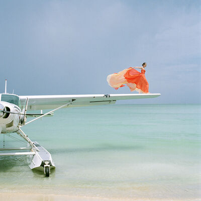 Rodney Smith, 'Saori on Sea Plane Wing, Dominican Republic', 2009