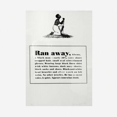 Glenn Ligon, 'Runaways', 1993