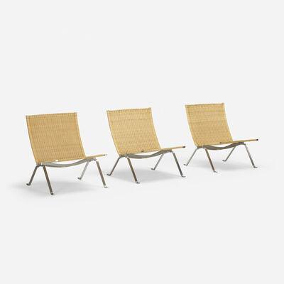 Poul Kjærholm, 'PK 22 lounge chairs, set of three', 1956