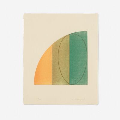 Robert Mangold, 'Curved Plane/Figure III', 1995