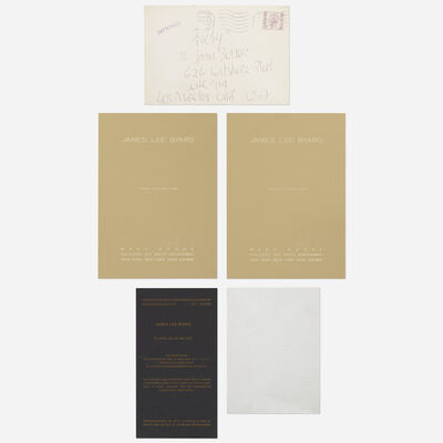 James Lee Byars, 'collection of four exhibition announcements and envelopes'