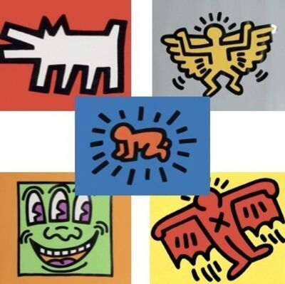Keith Haring, 'ICONS (Coloured) COMPLETE PORTFOLIO', 1990