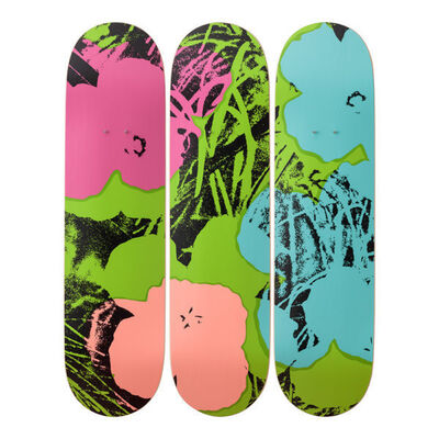 Andy Warhol, 'Flowers (Green/Pink) Skateboard Decks', 2019