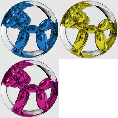 Jeff Koons, 'Blue, Yellow & Magenta Balloon Dog Multiples', 2002-2015