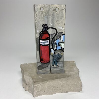 Banksy, 'SUMMER SALE / Banksy Walled Off Hotel Wall Sculpture Signed by Yazan October 2017 UNIQUE EXAMPLE ', 2017