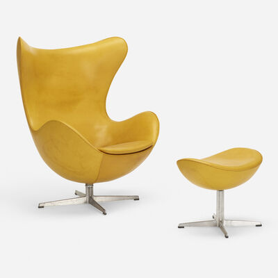 Arne Jacobsen, 'Egg chair and ottoman', 1958